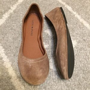 Lucky Brand Emmie Brown Frost Flats